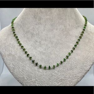 Russian Chrome Diopside Bead Necklace